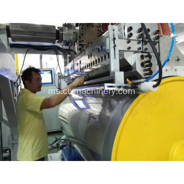 Kelajuan tinggi Pallet Wrap Line Film Production