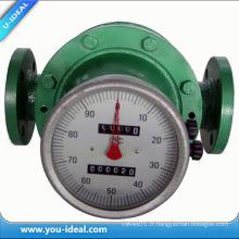 Compteur de débit à engrenage ovale numérique LC Débitmètre à pétrole brut
