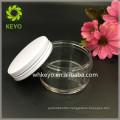 100g amber transparent plastic jar high quality PETG jar with black white aluminum lid