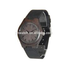 Relógio de madeira de bambu dos homens dos relógios de pulso das senhoras da moda