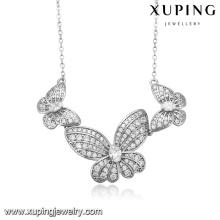43384 Xuping gemstone silver couleur bijoux papillon forme bijoux collier pour les femmes