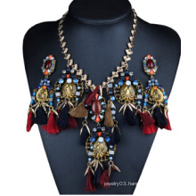 Bird Design Tassel Alloy Necklace (XJW13704)