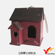 Birdhouse da madeira do jardim da antiguidade do vintage da reprodução de Luckywind