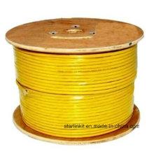 High Speed CAT6 blindado STP Bulk cabo Ethernet 305m amarelo