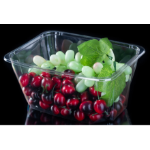 Household PET transparent salad bowl without lid