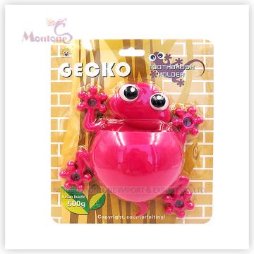 Badezimmerzubehör Kinder Tier Zahnbürstenhalter mit Saugnapf (geckoförmig)