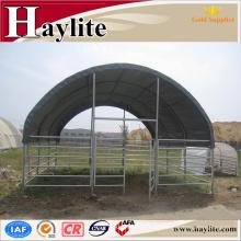 Tela económica del PVC Refugio portátil animal prefabricado de la vaca del caballo con el certificado del CE