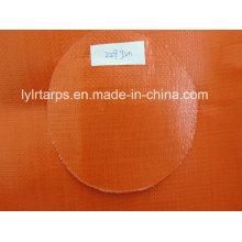 HDPE Laminated Woven Fabric Tarpaulin, Orange PE Tarp/230GSM Poly Tarp Cover
