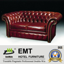 Canapé en cuir de qualité supérieure Ensemble canapé d'hôtel Sofa club de nuit (EMT-SF35)