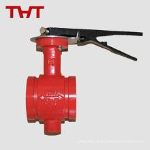 Extremidade ranhurada Proteção contra incêndio Resistência ao óleo da válvula de borboleta