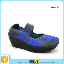 Vente chaude chaussures tissées pour la vente en gros