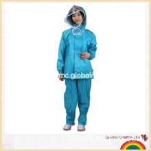 New adult fashionable polyester pu rainsuit work wear