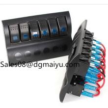 Car Wasserdicht 6 Gang Rocker Switch Panel mit Sicherung