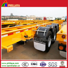 20/40ft Gooseneck Container Chassis Trailer with Skeleton Frame