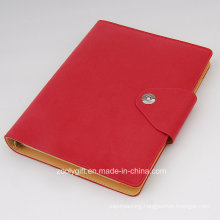 Custom Design PU Leather 6 Ring Binders Planner Organizer with Card Slots and Snap Clasp