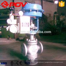 Válvula de regulação pneumática de diapragm para venda quente com flange