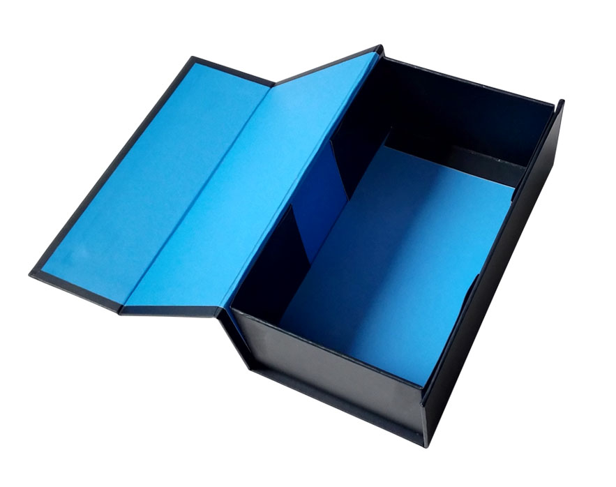 Luxury Folding Custom Blue Gift Box