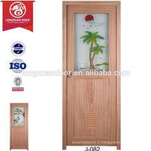 China Cheap Custom Plastic Doors pour toilette ou salle de bain ou cuisine