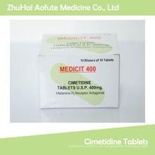 Comprimidos de alta calidad de Cimetidine de Medicial / píldoras