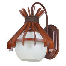 Luzes clássicas do candelabro de parede do vintage com máscara de vidro