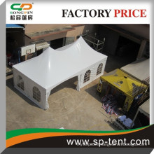 Guangzhou Factory Price high point double top tension style medieval tent pro for 30 people