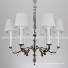 New Product Iron Chandelier with Fabric Shade (SL2100-6)