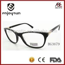 2015 black color mens acetato óculos óculos lunar