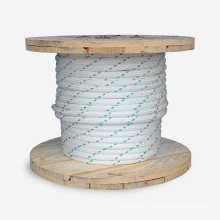 2 inch nylon yacht dinghy boat Polyester double braided marine rope for Anchoring Docking and Towing