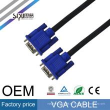 Precio de fábrica de SIPU al por mayor mejores cables de video de audio de la computadora para monitor vga cable 3 + 6