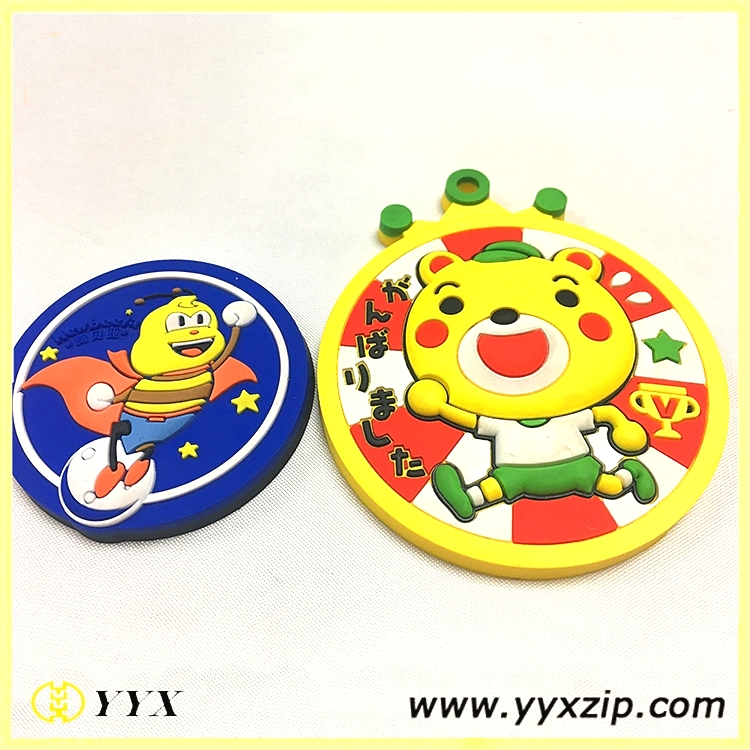 3d cartoon silicone labels