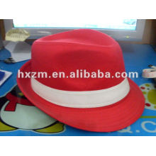 RED Top Hat in 100% Baumwolle
