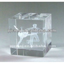 Decorative Crystal 3d Laser Dancer For Dance Souvenir