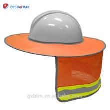 2018 New Sun Ao Ar Livre Sombra Para Capacete De Segurança, Proteção de Cabeça Desgaste Full-Brim Segurança Sombra Chapéu Duro Para Atacado
