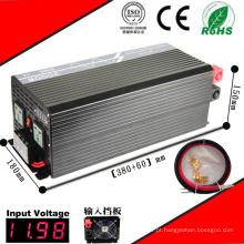 Inversor 12VDC de 3000W DC-AC ou 24VDC 48VDC ao inversor puro da onda de seno 110VAC ou 220VAC