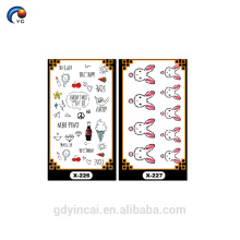 Custom new ideas small size fake tattoo sticker for daily life