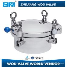 Couvercle de trou d'homme rond en acier inoxydable Ss304 / Ss316L de pression régulière sanitaire