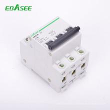 Factory supplier price 3kA/6kA B,C,D,curve high breaking capacity mini circuit breaker