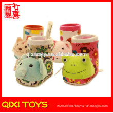 promotional plush animal brush pot plush brush pot