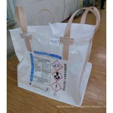 White Cross Corner Loops PP FIBC Big Bag