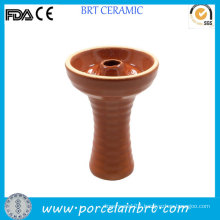 Single Design Ceramic Shisha Brown Hookah