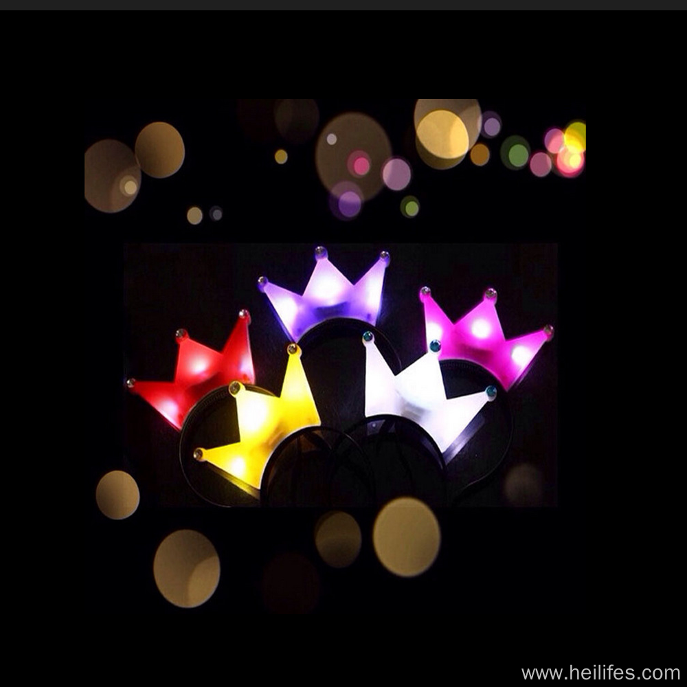 Customized LED light Crown kids toys