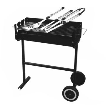 ruote del cortile barbecue grill con set di strumenti barbecue