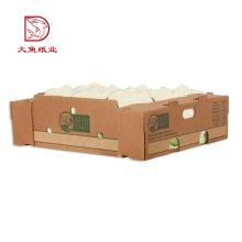 OEM imprimer vente chaude recyclable boîte de rangement de légumes marron en gros
