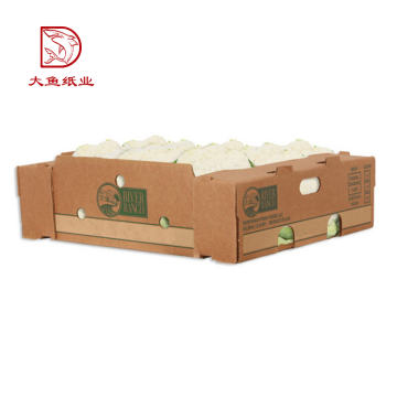 OEM print hot sale recyclable brown vegetable storage box wholesale