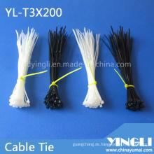 Selbstsichernder Nylon-Kabelbinder in Größe 3X200mm
