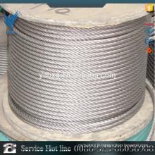 Meilleur prix 7 * 7 AISI 304 fil en acier inoxydable revêtu de plastique