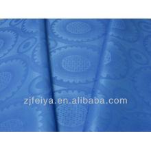 100% polyester africain tissu damassé Bazin Guinée Brocade teint les couleurs pour la partie