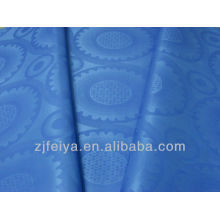 100%polyester African Dressing Fabric Damask Bazin Guinea Brocade Dyed Colors for Party