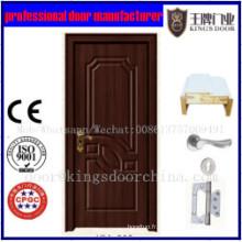 Nouvelle conception intérieure de porte de chambre à coucher de manteau de PVC de forces de défense principale Inde