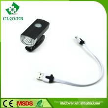 Фронтальный фонарь велосипеда 1 Вт Светодиод 100 люмен Питание USB аккумуляторная батарея